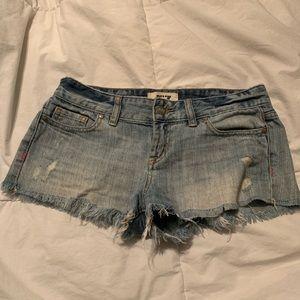 VS PINK Jean Shorts Size 0